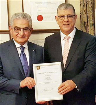 Australia Honors Salim Sfeir After Africa and the United States